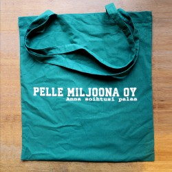 Pelle Miljoona Oy -cloth bag (turquoise)