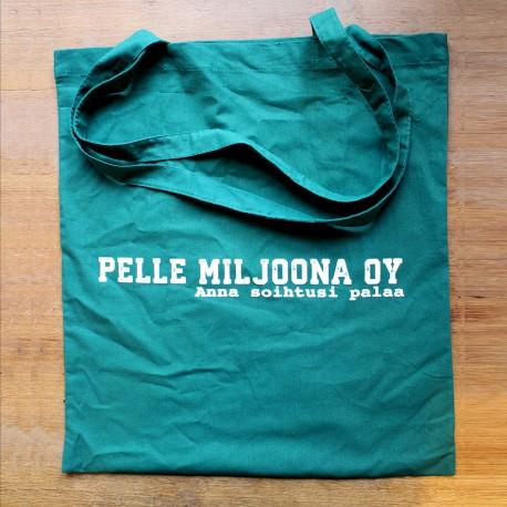 Pelle Miljoona OY -kangaskassi (turkoosi)