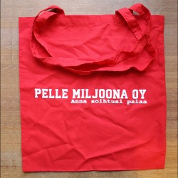 Pelle Miljoona Oy -cloth bag (red)