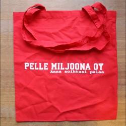 Pelle Miljoona OY -kangaskassi (punainen)
