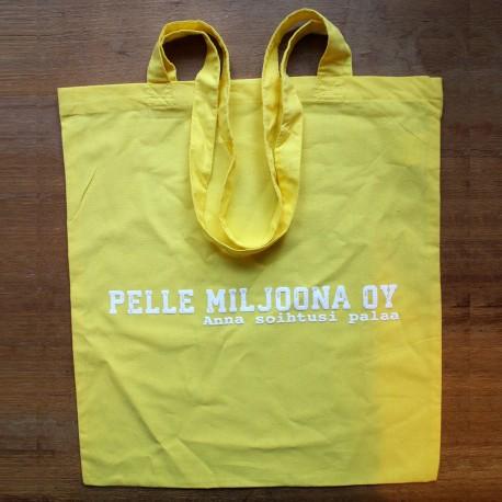 Pelle Miljoona OY -kangaskassi (keltainen)